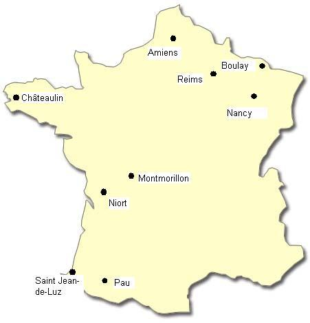 carte de france nancy